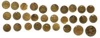 MEDAILLES, 1 De 20 Mm De Diamètre, 1 De 18 Mm Et 27 De 15 Mm, Toutes Trouées. (5CP6) - Jetons & Médailles