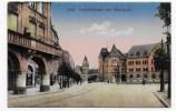 (RECTO / VERSO) METZ EN 1919 - BAHNHOFSTRASSE UND HAUPTPOFT - CPA - Metz