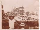 Tres Rare Et Exclusive Depart Du Paquebot General Chanzy De Marseille  Avant Son Naufrage Compagnie Generale Transatlant - Boats