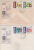 Bhutan / Bhoutan  1980  Sir Rowland Hill  Stamp On Stamp  4 Stamps On 2 First Day Covers #  87180 - Bhután