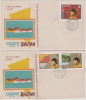 Bhutan / Bhoutan  1974  His Majesty's Coronation  2 Stamps On 2  First Day Covers..2 SCANS TO CHECK #  87181 - Bhutan