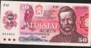 CZECHOSLOVAKIA  P96a  50 KORUN 1987  AVF   NO P.h. ! - Tchécoslovaquie