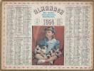 Almanachdes Postes Télégraphes Téléphones /Une Nombreuse Famille /1954             CAL231 - Big : 1941-60