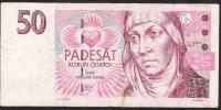CZECH REPUBLIC  P17  50  KORUN  1997 #E70    VF - Tchéquie