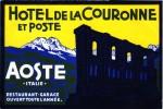 5 HOTEL LABELS ITALY ITALIE  AOSTE Ariston HOTEL SCHIO  Stadio SALSOMACCIORE  STRESA Regina Palace
