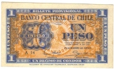 CHILE 1 Peso = 1/10 Condor 1943 P90a / FDS - UNC - Cile