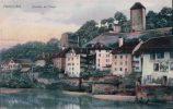Fribourg Quartier De L'Auge, Auberge De L'Ange Et De La Couronne (112c) - FR Fribourg