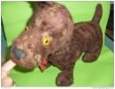 Rare Chien Peluche Tres Ancien -rembourre De Fibre De Bois---..-.--- - Cuddly Toys