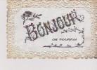 Cpa 1907 Bonjour De TOURNAI. Lettres Avec Paillettes, Fond Nacré Et Contours Dentelle - Souvenir De...