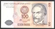 Billet Pérou 100 Intis Type Ramon Castilla 26/06/1987 - Perú