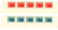 NATIONS UNIES / UNITED NATIONS / O N U / ONU / 1959 1960 / LOT DE 5 PAIRES / - Ohne Zuordnung