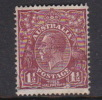 Australia 1926-30 Small Multiple Watermark perf 12,5x13,5 King George V, SG 97 Three Half Penny Brown Used