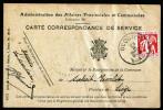 A3462) Belgien Belgium Karte Dienstpost Von Ocouier 28.2.1935 - Dienstpost