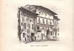 1880 - Albert ROBIDA - Gravure Sur Bois - Vitoria-Gasteiz - Calle De La Cuchilleria - FRANCO DE PORT - Estampas & Grabados