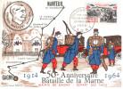 CPSM GAGNY NANTEUIL 50 EME ANNIVERSAIRE DE LA BATAILLE DE LA MARNE 1914 1964 TIMBRE MAXIMUM 1 ER JOUR - Gagny