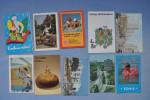 Set of 10 calendars USSR. Moto. La jeune fille. Enfants. Mer. Vue de la ville. Cap de Monomaque.   17n