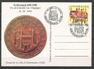 CARTE POSTALE COMMEMORATIVE 57e JOURNEE DU TIMBRE ECHTERNACH  TP N° 1456  (CACHET POSTAL D´ECHTERNACH) - (SCAN VERSO) - Cartes Commémoratives
