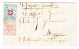 Heimat LU Faltbrief 1853 Von Triengen Nach Weggis Mit Rayon 5Rp. U. 15Rp. Attest Nussbaum - 1843-1852 Federal & Cantonal Stamps