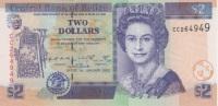 (B0104) BELIZE, 2002. 2 Dollars. P-60b. UNC - Belize
