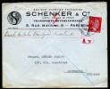 A3465) DR Dienstpost Niederlande Brief über FP-Amt Paris 1.12.43 Nach Amsterdam - Besetzungen 1938-45