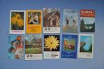Set of 10 calendars USSR. �coli�re. Fleurs. Enfants. A�robic. Nature. Moto. Monument. Vue de la ville. Mus�e.  26n