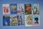 Set of 10 calendars USSR. Сostume National. Moto. Fleurs. Monument. Cirque. Nature. Vue de la ville.   27n