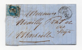 LETTRE DE QUIMPER POUR MARSEILLE DU 29/12/1868 - Postmark Collection (Covers)