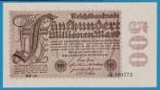 DEUTSCHES REICH  500 MILLIONEN MARK  01.09.1923  Serie RW-36  P# 110d  DRUCKFEHLER - [ 3] 1918-1933 : Weimar Republic