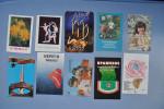 Set of 10 calendars USSR. Enfants. La jeune fille. A�robic. Moto. Fleurs. Monument. Vue de la ville.  36n