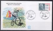 = Enveloppe Coupe D'Aquitaine De VTT 64 Castetpugon 25.6.1995 Garlin N° 2934 Cinquantenaire Marianne De Gandon De Carnet - Mountain Bike
