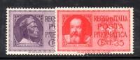 Y232 - REGNO 1935 , Posta Pneumatica Serie N. 14/15  ***  MNH - Rohrpost