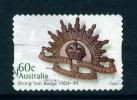 AUSTRALIA  -  2012  Rising Sun Badge  60c  Self Adhesive  Used As Scan - 2010-... Elizabeth II