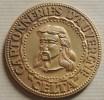 Belle Médaille De Table En Bronze Doré CELTA Des Cartonneries D'Auvergne, Tête De Vercingétorix - Altri