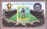 1991 Samoa Rugby Coppa Del Mondo World Cup Sevens Coupe Du Monde Block MNH** B282 - Samoa