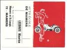 Petit calendrier de 1967 - AUTO ECOLE DE MAMERS - Joueur de Golf