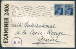 1943 Alger Censor Cover - Red Cross, Croix Rouge Geneve Switzerland - Algeria (1924-1962)