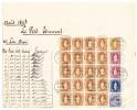 Heimat NE Chaux De Fonds 20er-Block 3Fr. + 1 + 2 X 1Fr. + 50Rp. Alle Stehende Helvetia + 12Rp. Ziffer Auf Post Beleg - 1882-1906 Armoiries, Helvetia Debout & UPU