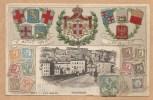 C.P.A Gaufrée - Ventimiglia - Voyagée 1906 - TIMBRES - BLASONS - Imperia