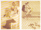 """Lot De 4 CPM  """"Le Saxophone"""" ( Pub Au Dos Clairefontaine) - Musique Et Musiciens"""
