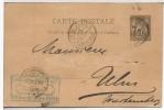 FRANCIA 1890 ENTERO POSTAL PARIS A ULM - Enteros Postales