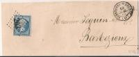 GC 203 AUBETERRE S DRONNE Charente Sur Lettre  Napoléon III Dentelé. - 1849-1876: Classic Period