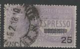 ITALIE - POSTA AERA 1917 -Catal. UNIFICATO E3 ESPRESSO URGENTE - ESPRESSI - Novembre 1917 - 25 Cent Su 40c - - 1900-44 Vittorio Emanuele III