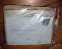 Mise à Prix 1 Euro 1 Classeur De 40 Lettres Avec N°140 25C SEMEUSE   Oblitération Daguin Krag .... (117) France - Sammlungen