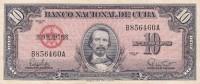 BILLETE DE CUBA DE 10 PESOS DEL AÑO 1960 DE CARLOS MANUEL CESPEDES  (BANK NOTE) - Cuba