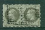 Superbe Paire De N° 25 - 1863-1870 Napoléon III Lauré