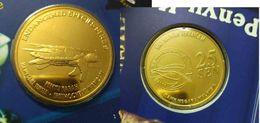 Malaysia 2006 25 Cent Hawskbill Turtle Marine Life 2006 Coin Nordic Gold BU 25 Sen - Malaysia