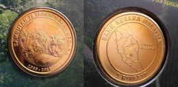 Malaysia 2014 1 Ringgit 75th Anniversary National Park Tiger Coin  Nordic Gold BU 1 Ringgit Coin - Malaysia