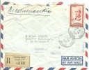 CARTA 1957  RECOMANDEE - Morocco (1956-...)