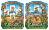 MOZAMBIQUE 2015 - Giraffes M/S + S/S. Official issue