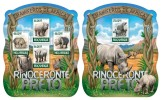 MOZAMBIQUE 2015 - Black Rhinoceros M/S + S/S. Official issue